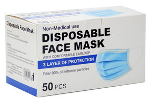 Disposable 3 Layer Protection Face Mask With Earloop  (50 pcs)