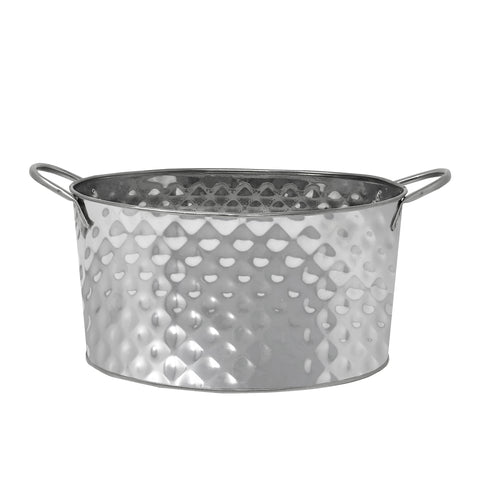 Stainless Steel Texture Oval Ice Bucket Tub (12'')