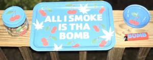 """I Smoke Bomb"" Custom Tray Set"