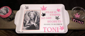 """Marilyn Monroe"" Custom Tray Set"