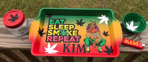 """Eat+Sleep+Smoke"" Custom Tray Set"