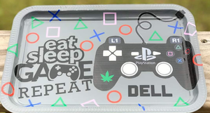 """Eat+Sleep+Game"" Custom Tray Set"