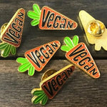 Vegan Carrot Enamel Pin