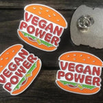 Vegan Power Enamel Pin