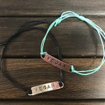 Vegan Bar Bracelet