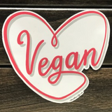 Vegan Heart Sticker