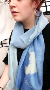 Peace scarf - blue