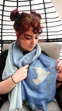 Load image into Gallery viewer, Peace scarf - blue