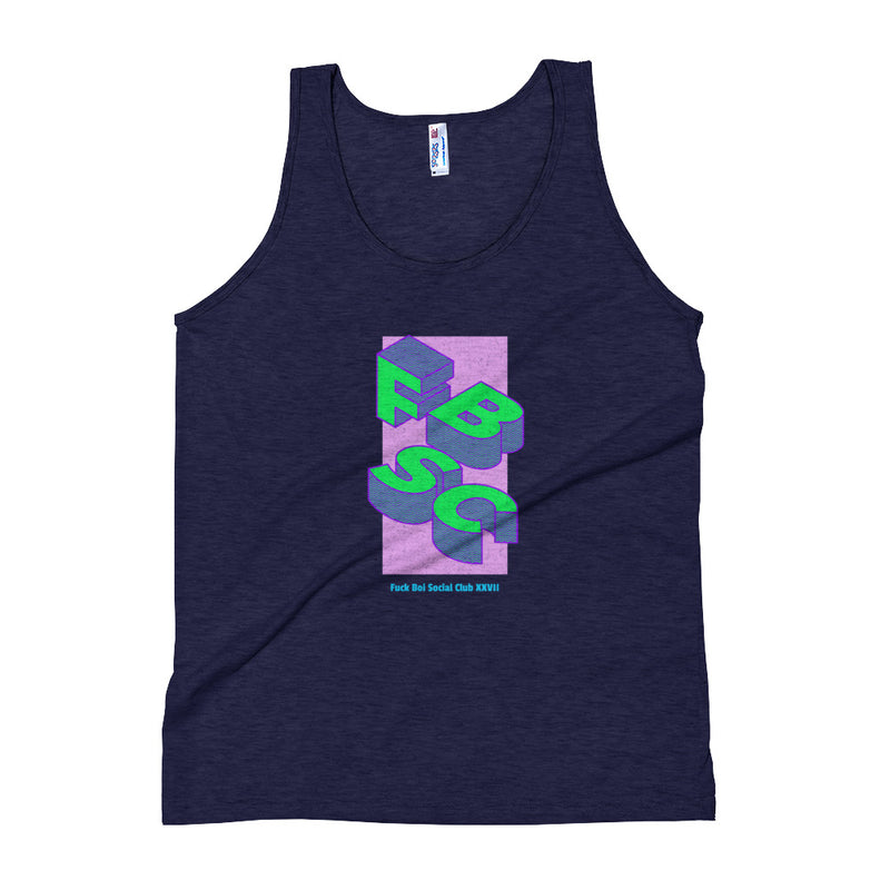 Freshly Baked x Fuck Boi Social Club - Limited Edition 'Blocks' Tri-Blend Tank - Freshly Baked