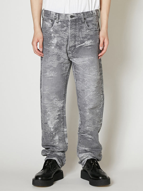 21ss -PRE ORDER-TAAKK REGULAR DENIM PANTS BLEACH