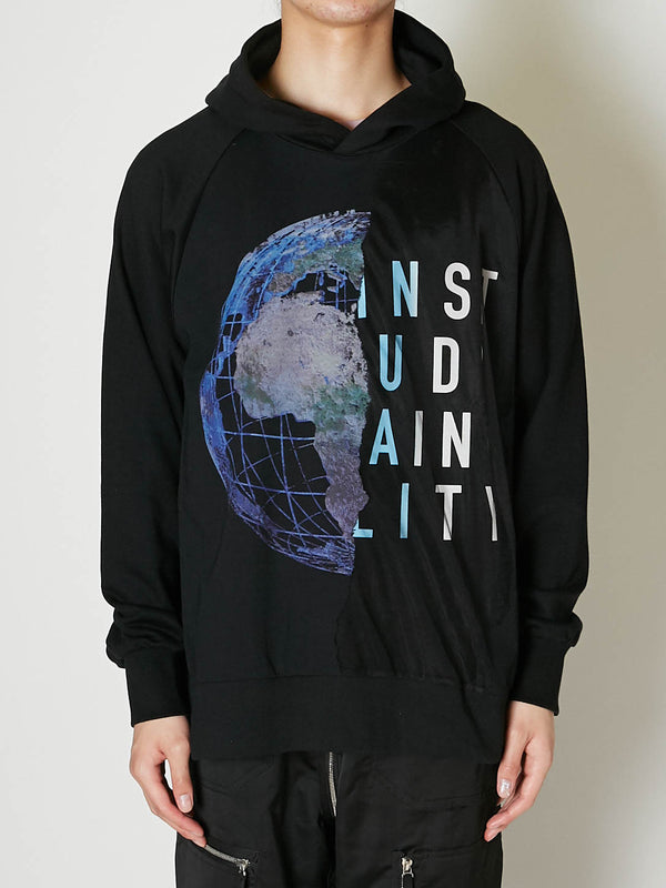 EARTH BURNING LAYERED HOODIE