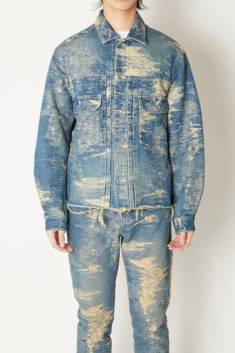 TAAKK DENIM JACKET BLEACH