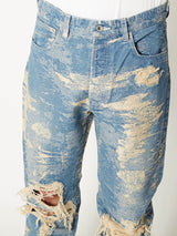 TAAKK DENIM STRAIGHT DESTROY