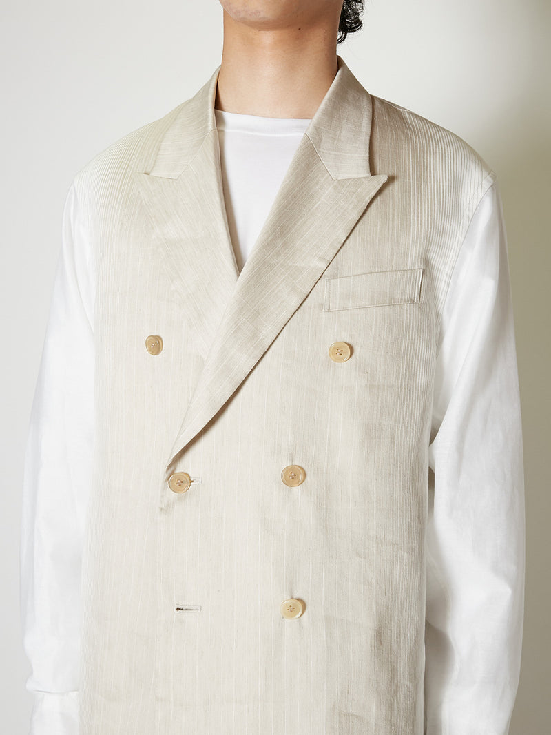 STRIPE LINEN JACKET