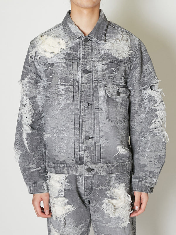 TAAKK DENIM JACKET DESTROY