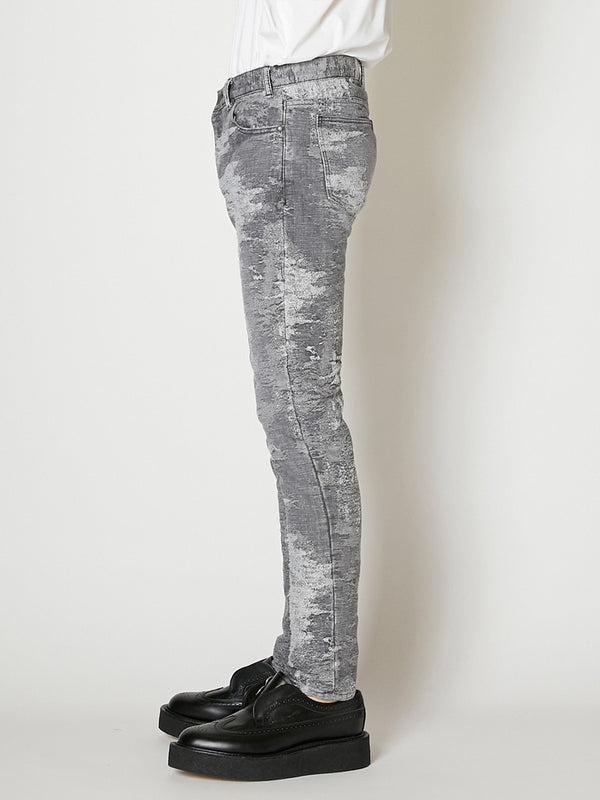 21ss -PRE ORDER-TAAKK DENIM STRETCH SKINNY DENIM PANTS  BLEACH