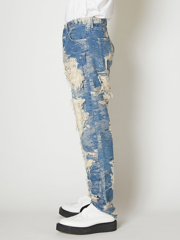 21ss -PRE ORDER-TAAKK DENIM REGULAR PANTS DESTROY