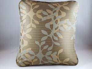 Taupe & light blue floral indoor/outdoor Comfee Cushion