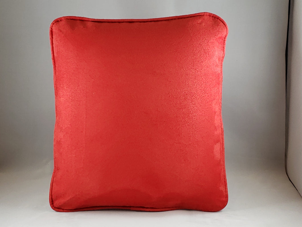 Red Micro-suede Comfee Cushion