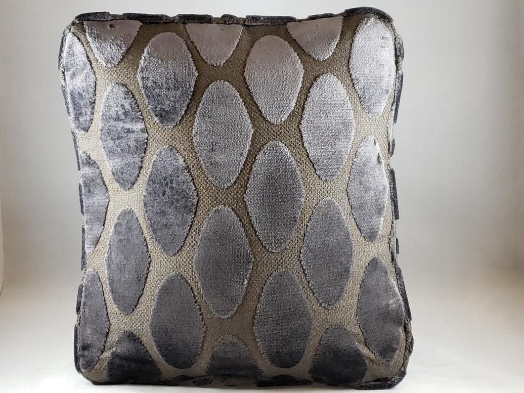 Grey Oval Pattern Upholstery Comfee Cushion