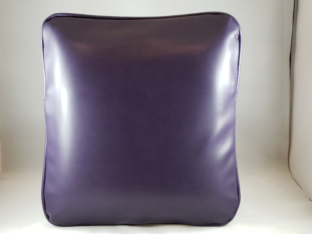 Purple Pleather Comfee Cushion
