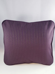 Eggplant Purple Stripe Comfee Cushion