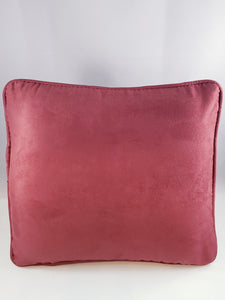 Burgundy/Wine Micro-Suede Comfee Cushion