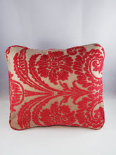 Load image into Gallery viewer, Gold and Red Demask Comfee Cushion