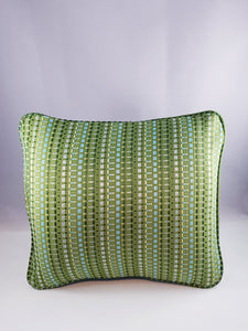 Green Striped Comfee Cushion