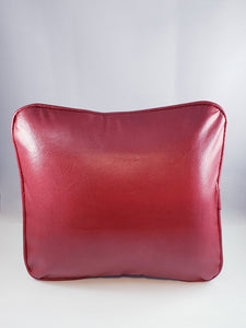 Red Pleather Comfee Cushion
