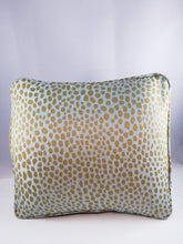 Load image into Gallery viewer, Heavy upholstery Taupe/Light Aqua Cheetah Comfee Cushion