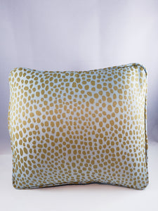 Heavy upholstery Taupe/Light Aqua Cheetah Comfee Cushion