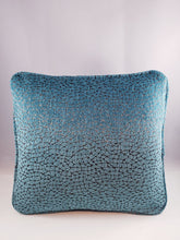 Load image into Gallery viewer, Pewter & Turquoise Pattern Comfee Cushion