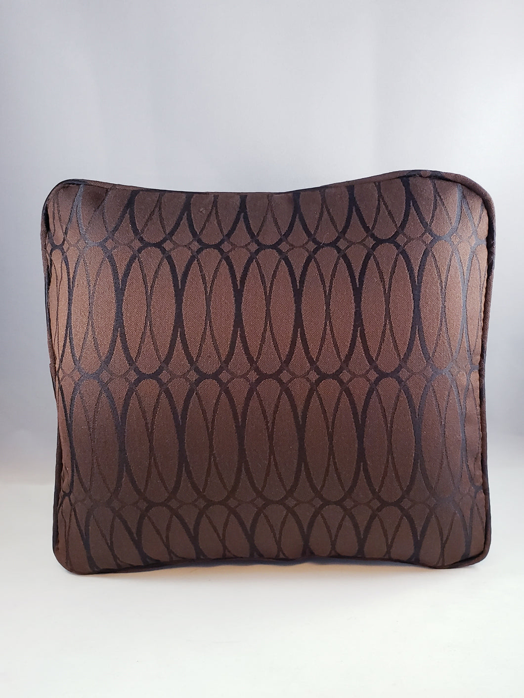 Brown with Black oval Pattern Comfee Cushion