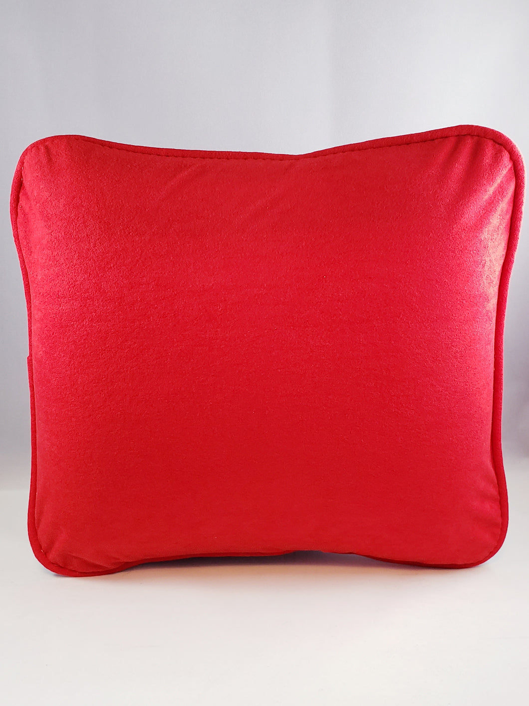 Bright Red Plush Comfee Cushion