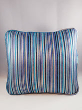 Load image into Gallery viewer, Bright Blue Stripe Comfee Cushion
