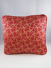 Load image into Gallery viewer, Red with Beige Swirls pattern Comfee Cushion