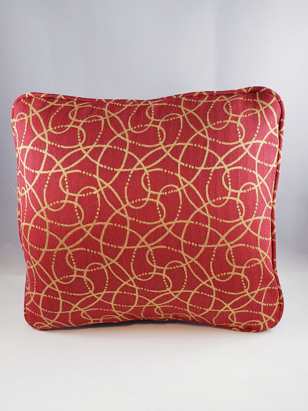 Red with Beige Swirls pattern Comfee Cushion