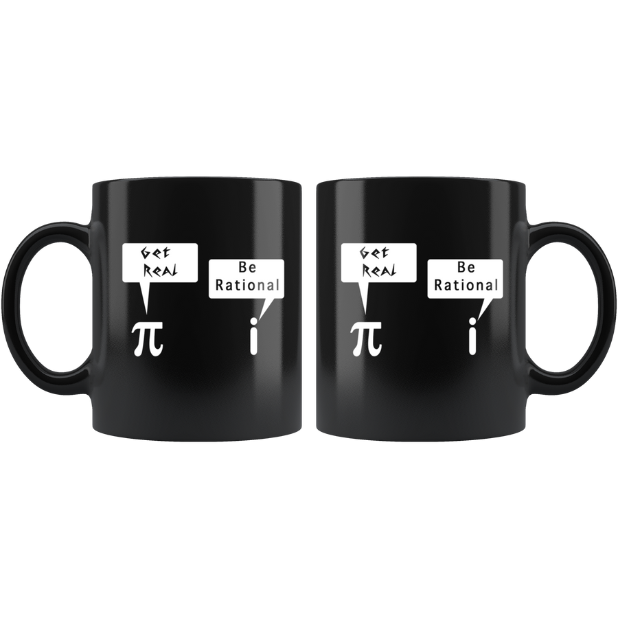 InspireMug pi get real i be rational math jokes