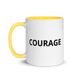 courage mug yellow