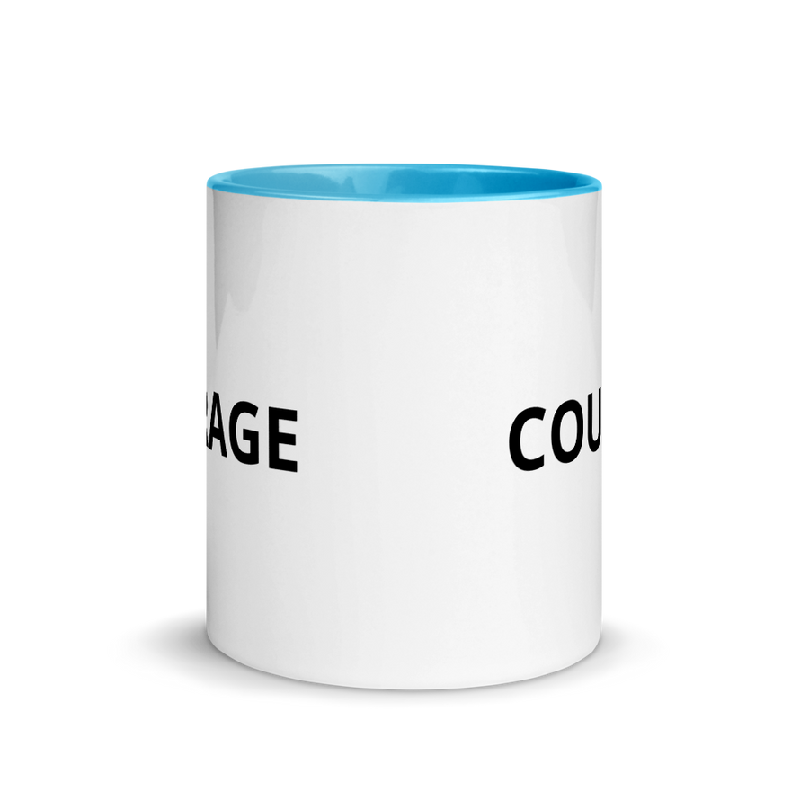 courage mug blue