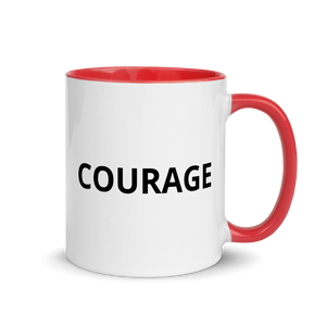 courage mug red