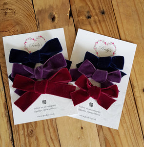 Midnight, A Trio of Beautiful Velvet Bows