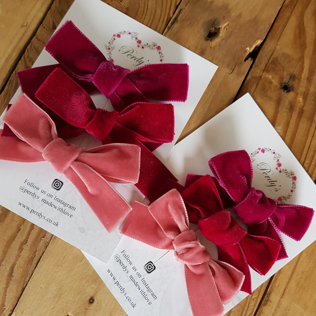 Blush, A Trio of Beautiful Velvet Bows