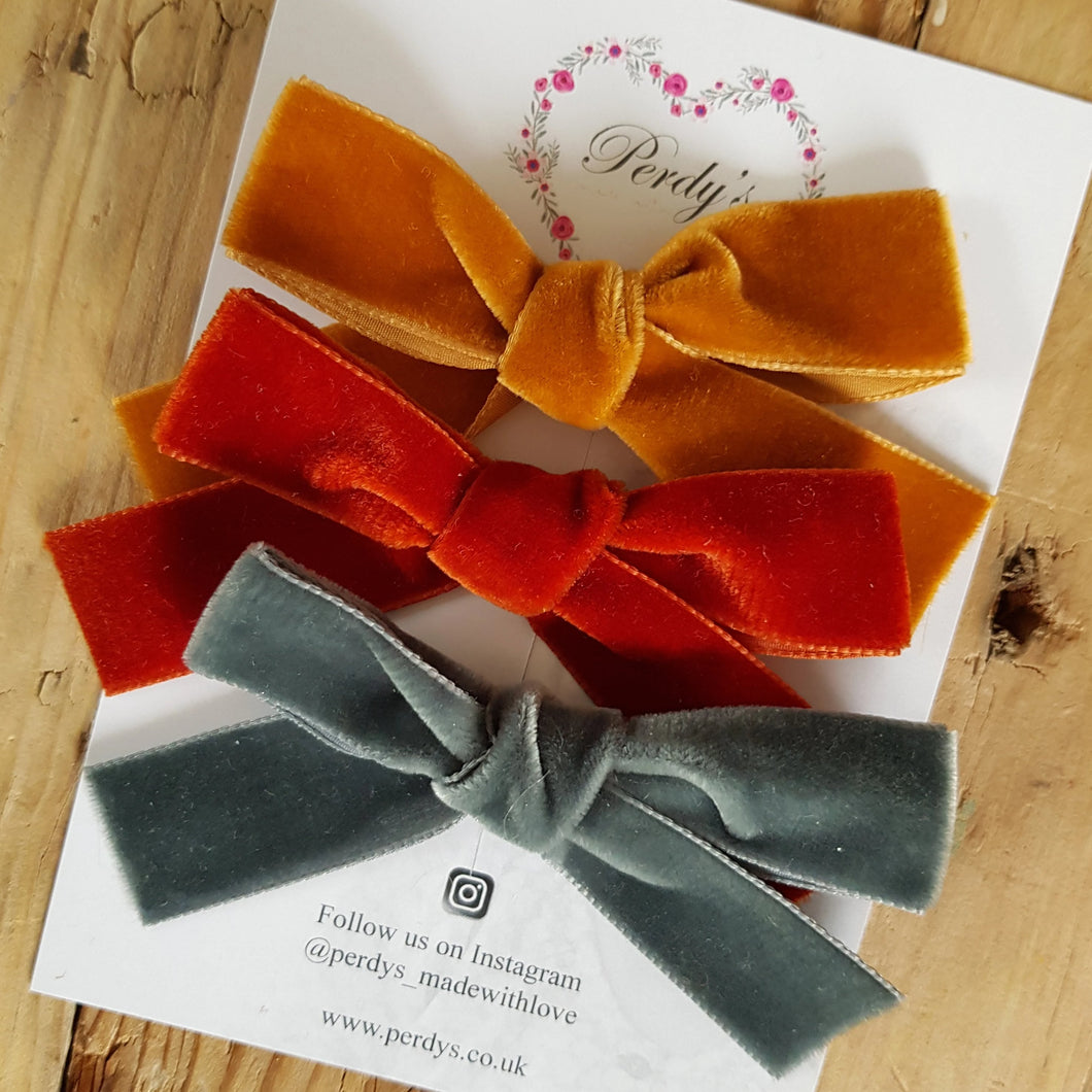 Fern, A Trio of Beautiful Velvet Bows
