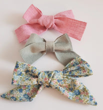 Load image into Gallery viewer, Flora (small). A Trio of Beautiful Bows