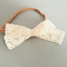 Load image into Gallery viewer, Crochet Ribbon Bow