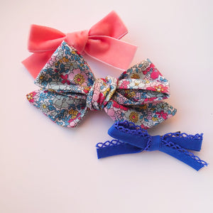 Liberty Blue a Trio of Bows