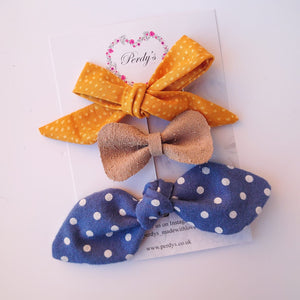 April a Trio of Bows