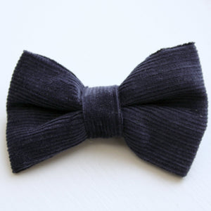 Navy Cord Classic Bow